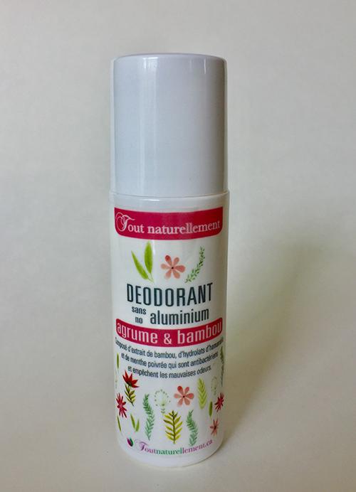 Déodorant liquide sans aluminium